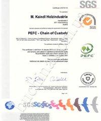 PEFC сертификат